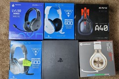 Buy Now: Lot of 6 gaming headphones headsets Power on with issues As is