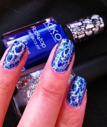 Esmalte Uñas Kiko Rock Top Azul Eléctrico Beautiers