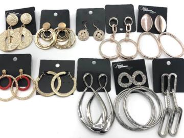 Liquidation/Wholesale Lot: 100 Pair Large Statement Earrings- Priced Below Wholesale