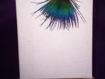Vente au détail: Bague d'oreille simple argenté plume de paon (plusieurs modèles d