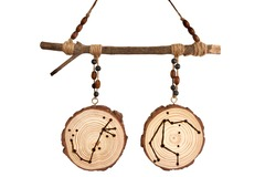 : Handcrafted 'our stars aligned' wooden wall hanger