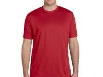 Liquidation/Wholesale Lot: CLOSEOUT!! Athletic Dry fit T-shirts Red  size Sm Tag less 1