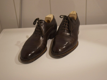 Online payment: Saint Crispin's, brown balmoral oxford shoes, MTO, size 42 EU, RR