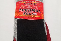 Liquidation/Wholesale Lot: Mens Women Thermal Socks 3Pack 1 Red/Grey, 1 Blue/Grey, 1 Black/G