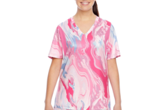 Liquidation/Wholesale Lot: (20) Team 365 T-Shirt Women Short-Sleeve V-Neck Sublimated Pink