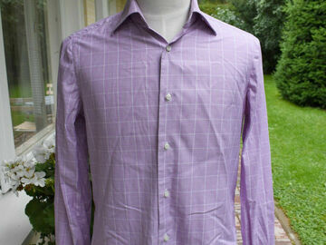 Online payment: Isaia, purple collar shirt, size 15.75, hand-sewn, RRP 375 €
