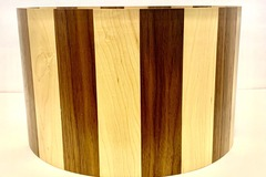 Selling with online payment: 14 x 8.5 Walnut & Maple custom solid stave shell satin finish