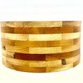 Selling with online payment: 14 x 6.5 and 14 x 6 custom multiple hardwood segment shells