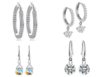 Buy Now: 12 pair Our Best Sellers of Swarovski Elements Jewelry Earrings