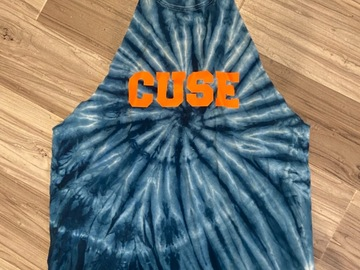 Selling A Singular Item: Syracuse tie dye tank