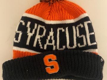 Selling A Singular Item: Syracuse Pom Pom winter hat