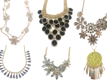 Buy Now: 30 High End Boutique Statement Necklaces $59.95 ea = $1.798.00