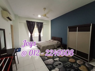 For rent: Ridzuan Condo Master Bedroom comes with Fully Furnished