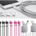 Liquidation/Wholesale Lot: 200X 6FT BRAIDED USB Charging Cable for iPhone X, 8, 7,6