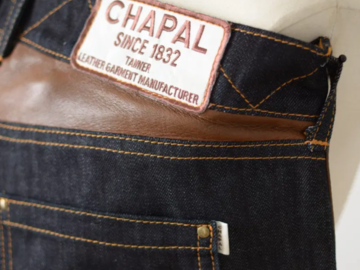 """Selling with online payment: CHAPAL """"pilote"""" denim"""