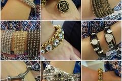 Liquidation/Wholesale Lot:  Lot of 30 NEW pcs Fashion crystal bracelets.