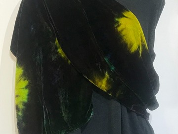 Selling with online payment: Hand Dyed Silk and Rayon Velvet Scarf