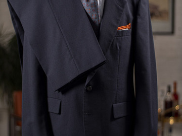 Selling with online payment: Suit AQUASCUTUM – Pure virgin wool – 2 Buttons – Plain blue – L