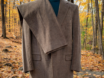 Selling with online payment: Suit ZEGNA cashco – Corduroy – Cotton and Cashmere – XL