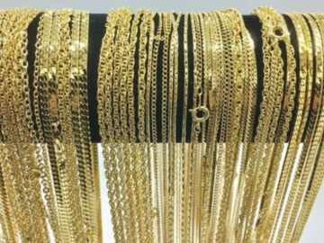 Buy Now: 36 Piece Chain Assortment 14 KT Gold Finish MADE IN USA
