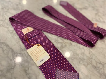 Selling with online payment: Dolce Punta Handrolled Printed Silk Tie