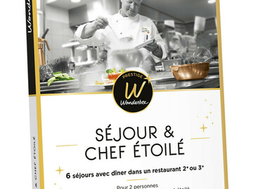 """Vente: Coffret Wonderbox Prestige """"Séjour & chef étoilé"""" (800€)"""