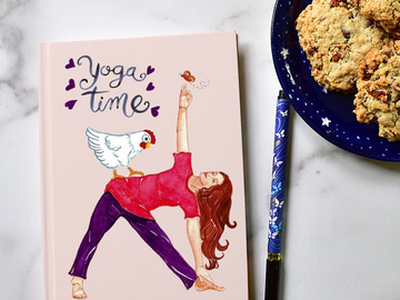 Selling with online payment: Yoga Journal with Roses  Writers