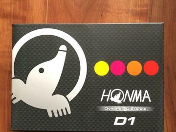 SOLD OUT(売り切れ): 【新品】HONMA ゴルフボール D1 カラー4色セット