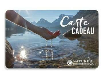 Vente: e-Carte cadeau Nature & Découvertes (100€)