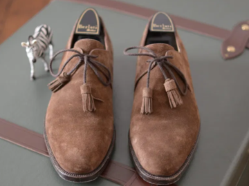 Selling with online payment: BERLUTTI Suede Derbies 7.5 UK