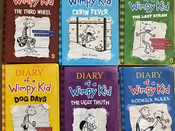 Selling with online payment: Diary of a Wimpy Kid ( set of 6 books)