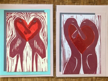 Selling with online payment: Valentine Card, Loving Spoonbills