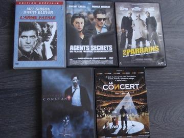 Vente: Lot de 5 DVD divers