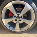 """Selling: Audi/VW OEM 19"""" x 8.5 Rotor style wheels *WITH TIRES*"""