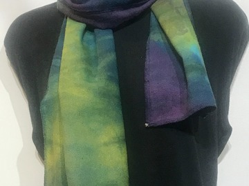Selling with online payment: Hand Dyed Tussah Silk Scarf
