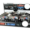 Liquidation/Wholesale Lot: 1 Display Of 12 Pcs Of Laser /Light Gun Key Chain For $25.00