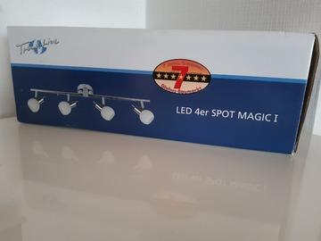 Verkaufen mit Online Zahlung: Trendline LED 4er Spot Deckenlampe, Chrom