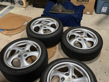 "Selling: OEM Porsche ""17 996/986 wheels and tires"