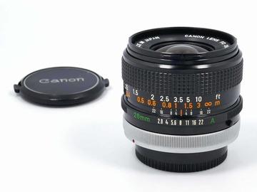 Vermieten: Canon FD 28mm f/2,8 SSC (inkl. FD-E Adapter)