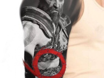 Tattoo design: God Of War B&G