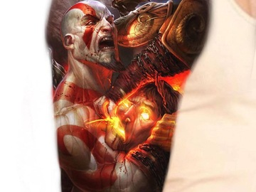 Tattoo design: God of War (in combat)