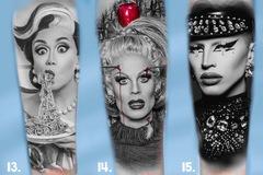 Tattoo design: RuPaul's Drag Race Design 14