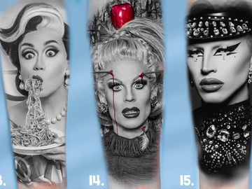 Tattoo design: RuPaul's Drag Race Design 15