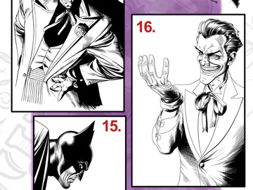Tattoo design: DC - 15 - Batman and Joker illustrative