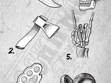 Tattoo design: 5 - Horns