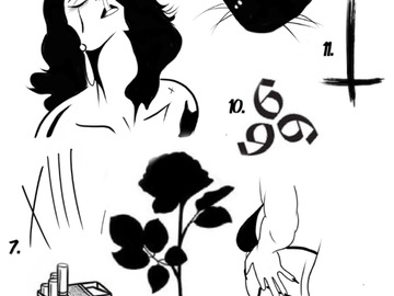 Tattoo design: 7 - X I I I