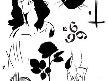 Tattoo design: 10 - 6 6 6