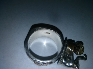 Other Item: (SOLD) Auth 925 and 14k Solid Gold & Sterling Silver Ring