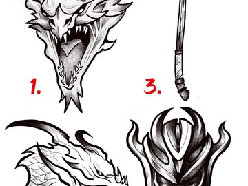Tattoo design: Skyrim Design 1