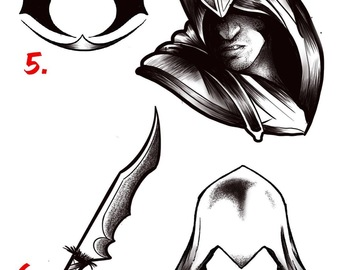 Tattoo design: Assassins Creed Design 8 (Hood)